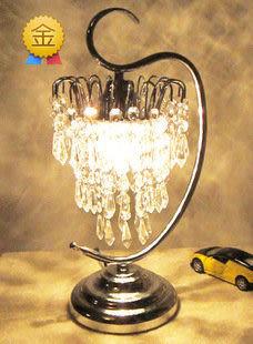 高檔歐式水晶臺燈  調光