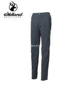 丹大戶外用品 荒野【Wildland】女彈性防潑防風天鵝絨長褲 型號 0A62323-99 深霧灰