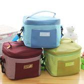 日式簡約便當袋  條紋方形保溫包       SQ8330『寶貝兒童裝』