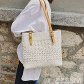 夏季包包女新款仙女蕾絲帆布包單肩包大包托特包文藝手提包袋  遇見生活