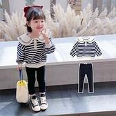 快速出貨 女童套裝女寶寶休閒套裝兒童洋氣兩件套小童韓版女童秋裝
