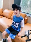 男童套裝短袖夏裝2020新款兒童中大童運動籃球兩件套球衣潮品 童趣屋