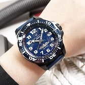 elegantsis / ELJX48MAS-ROCN-NU02LC / 限量款 海軍艦隊2.0 機械錶 義大利真牛皮錶帶 藍黑色 46mm