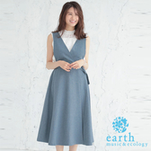 「Hot item」2WAY可拆式吊帶高腰長裙 - earth music&ecology