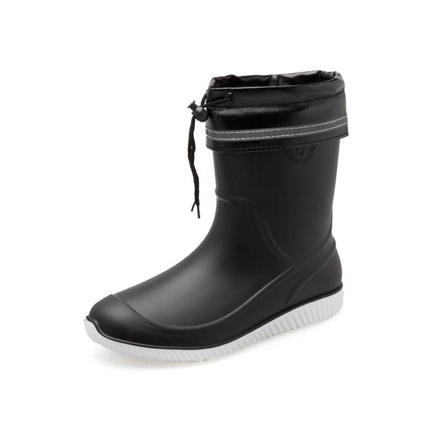雨鞋男膠鞋中筒防滑防水雨靴水鞋套鞋釣魚鞋洗車工作鞋男膠鞋 怦然心動