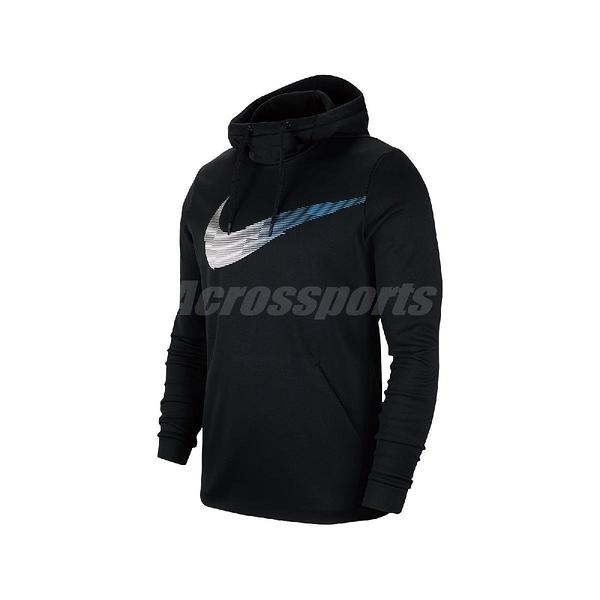 Nike 長袖T恤 Therma Pullover Hoodie 黑 藍 男款 帽T 運動休閒 【ACS】 BV3868-010
