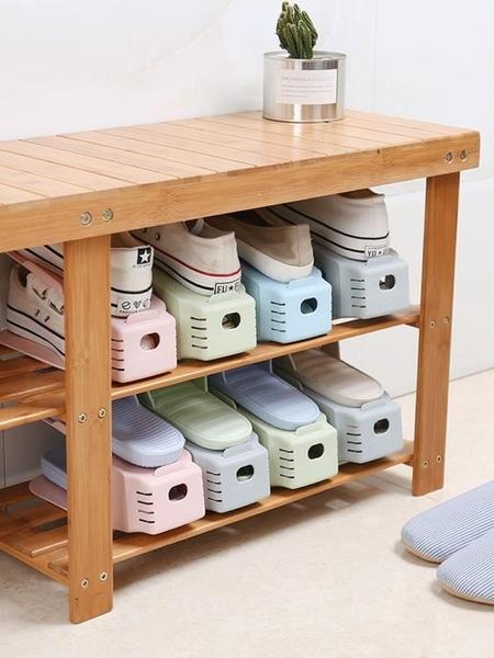 收納鞋架雙層鞋托塑料一體式家用宿舍神器鞋櫃置物架鞋子收納架 新年禮物
