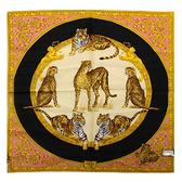 VERSACE古典猛獸圖紋純棉手帕領巾(橘色)989017-23