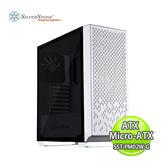 SilverStone 銀欣 PM02 ATX/Micro-ATX 直立式 電腦機殼-白 SST-PM02W-G