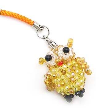 貓頭鷹水晶串珠吊飾