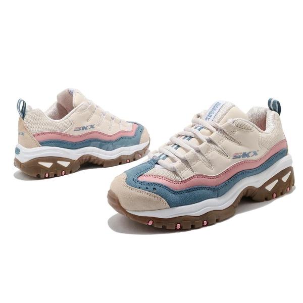 Skechers 休閒鞋 Energy-Oh So Pretty 米色 粉色 女鞋 復古 老爹鞋 【ACS】 149228NTMT