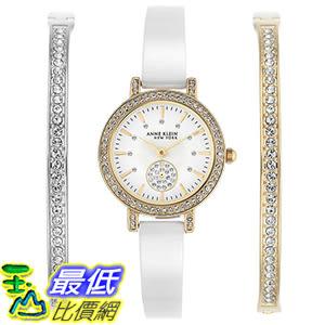 [106美國直購] Anne Klein New York Women s Ceramic Watch and Bracelet Set 女士手錶