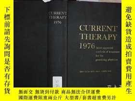 二手書博民逛書店CURRENT罕見THERAPY 1976 電流療法1976(516)Y203004
