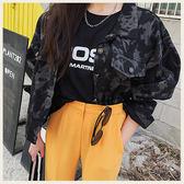 ✦Styleon✦正韓。仿舊染色短版金屬排釦牛仔外套。韓國連線。韓國空運。0327。