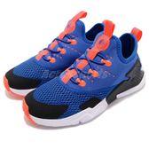 Nike 休閒鞋 Huarache Drift PSE 藍 黑 免綁鞋帶設計 低筒 童鞋 中童鞋 武士鞋【PUMP306】 AO3155-402