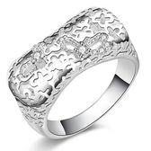 925純銀戒指 鑲鑽-精緻時尚生日聖誕節禮物女配件73aq29[巴黎精品]