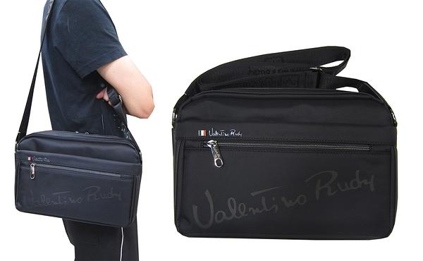 ~雪黛屋~VALENTION 斜側包中容量二層主袋+外袋共五層8吋平板進口防水尼龍布肩背斜側背VD1881
