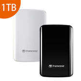 [富廉網] Transcend 創見 StoreJet 25D3 黑色/白色 1T B USB3.0 2.5吋 外接硬碟 (TS1TSJ25D3)