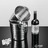 冰桶不銹鋼加厚KTV酒吧歐式香檳桶冰塊粒桶大號虎頭啤酒冰桶紅酒冰桶伊芙莎