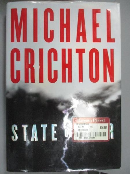 【書寶二手書T4/原文小說_EPQ】State of Fear_Crichton, Michael