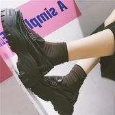 牛津鞋 的鞋子夏韓版厚底鬆糕鞋英倫風復古軟妹小皮鞋女 歌莉婭