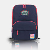 SINGLE單眼皮女孩 簡單美國學院風格前大拉鍊袋可放A4電腦夾層舒適尼龍帆布後背包
