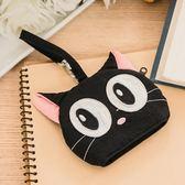 鑰匙包/Kiro貓‧日系貓咪拼布包 黑貓 掛飾 鑰匙包/零錢包【222598】