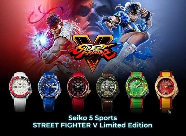 SEIKO 5 x 快打旋風Street Fighter V聯名錶 春麗 (SRPF17K1) 現貨 4R36-08W0B