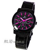 SIGMA 極品風格時尚腕錶-黑x桃紅針