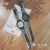 韓國ulzzang原宿bf風韓版簡約休閑男女情侶手表中學生青少年潮流