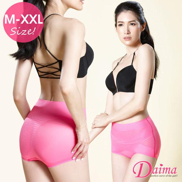 健康新主義(M~XXL)交叉X型微塑動機能蠶絲翹臀透氣褲(桃紅)【Daima黛瑪】