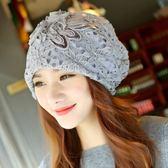 女帽子春夏女士頭巾帽套頭包頭光頭帽子化療蕾絲帽 艾家生活館