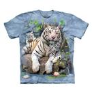 【摩達客】(預購)美國進口The Mountain 白虎家族 純棉環保短袖T恤(10416045028a)