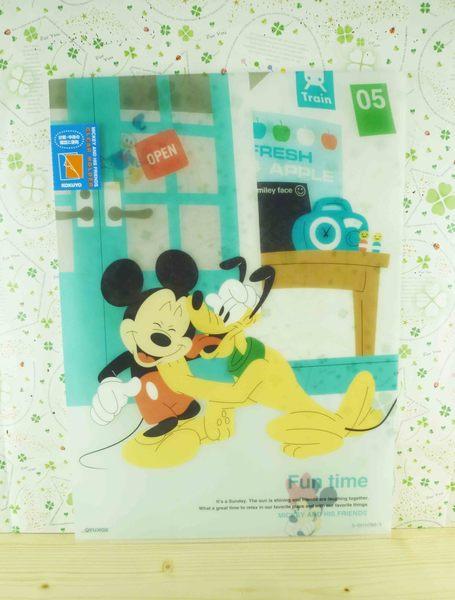 【震撼精品百貨】Micky Mouse_米奇/米妮 ~L型文件夾-布魯托&米奇