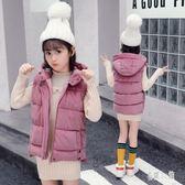 女童背心 女童棉馬甲新款韓版冬季外穿坎肩加厚中大兒童金絲絨棉襖OB1609『易購3c館』