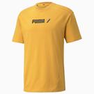 PUMA RAD / CAL 男裝 短袖 T恤 休閒 棉 歐規 黃【運動世界】58938537