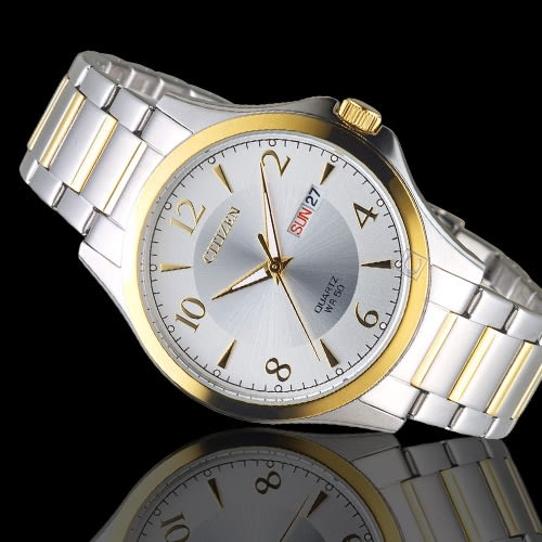 CITIZEN星辰經典雅痞時尚對錶 BF2005-54A- EQ0595-55A 鋼帶