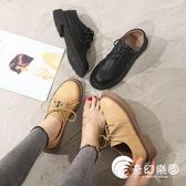 牛津鞋-英倫鞋子女2018新款韓版百搭平底單鞋休閑軟妹原宿學生ins小皮鞋-奇幻樂園