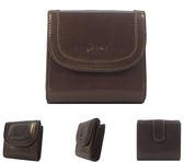 【橘子包包館】FOCUS 富可仕 質感原皮 真皮 8卡相片零錢袋 扣式短夾 FRC3319 深咖啡