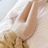 光腿神器女秋冬加絨加厚裸感雙層假透肉色打底褲春秋薄外穿連褲襪H331紅粉佳人