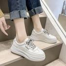 小白鞋女2021春季學生韓版百搭厚底網面街拍休閒鞋ins港風板鞋子 8號店
