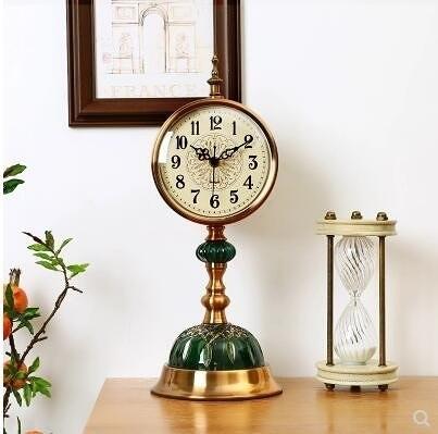 歐式複古鐘錶座鐘客廳大號臺鍾美式靜音時鐘臥室臺式擺鐘桌面擺件