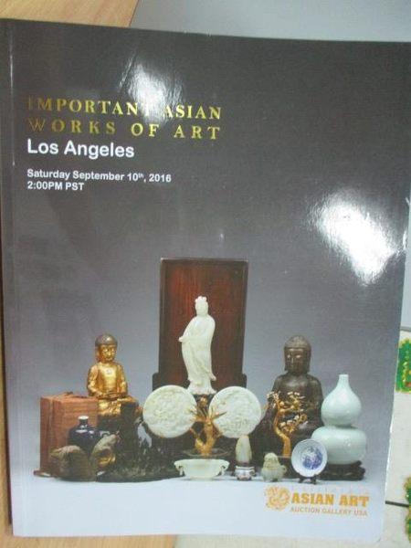 【書寶二手書T2/收藏_YBH】Asian Art_Important Asian Works..._2016/9/10