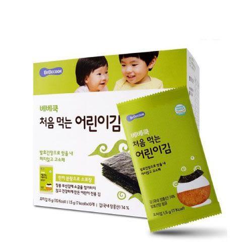 韓國 智慧媽媽 BEBECOOK 嬰幼兒原味海苔