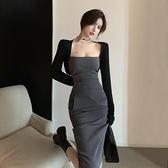 2021夏新款輕熟風連身裙女收腰顯瘦御姐名媛氣質修身包臀抹胸裙子 貝芙莉