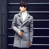 夾克外套-翻領韓版時尚帥氣中長版夾棉男外套3色73qa40【時尚巴黎】