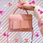 抖音包包 新加坡包包女2019春款百搭蝴蝶結抖音限定限量手提包小方包 雙12狂歡