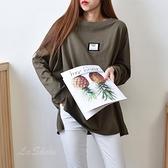 [預購+現貨]韓版貼標寬T(4色)-上衣-72052230 -pipima-53