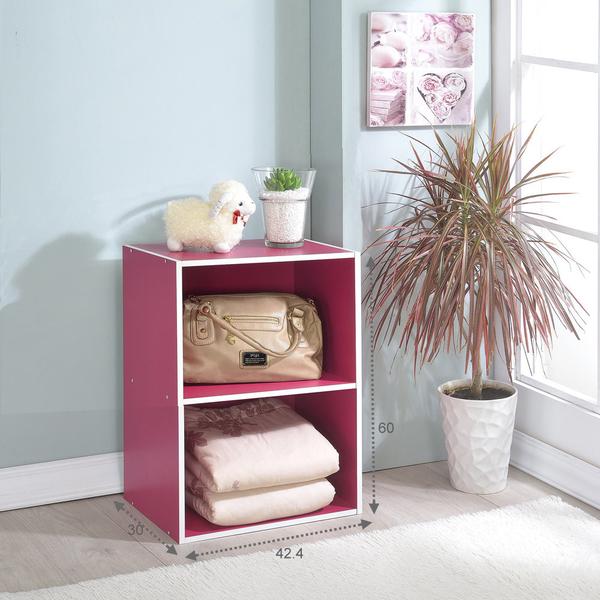ONE HOUSE-DIY優質-2層空櫃/收納櫃/多層櫃/書架/置物櫃/高低櫃/展示櫃