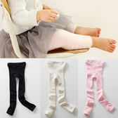 柔軟超彈力簡約棉質純色百搭九分褲襪 內搭褲 童襪 九分褲 童裝 棉襪